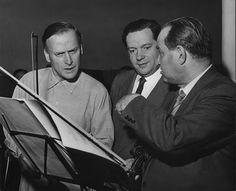 Trifecta! Violinists Yehudi Menuhin, Arthur Grumiaux and David Oistrakh.