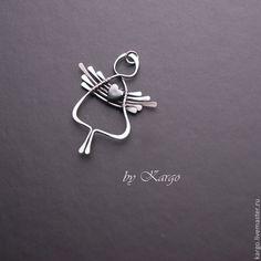 Купить или заказать Ангел (серебро) в интернет-магазине на Ярмарке Мастеров. У нашей семьи ангелов пополнение, появился еще один с гематитовым сердечком! Ангел выполнен из серебра 925 пробы Сердце - гематит.