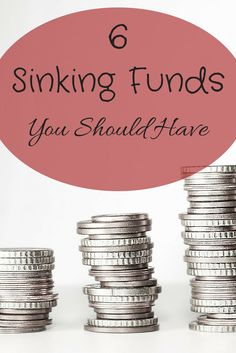 6 sinking funds you should have set up right now! What are sinking funds? Sinking funds are essentially savings accounts for larger expenses that you know are coming up, making it different from an emergency fund.