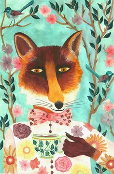 Illustration renard art print Fox home decor par SoniaCavallini Art And Illustration, Fuchs Illustration, Illustration Mignonne, Art Fox, Art Disney, Painting, Illustrators, Artsy, Art Prints