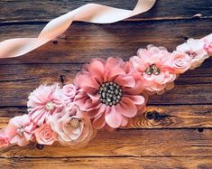 Blue, Brown and Ivory Boy Maternity Sash Cowboy Baby Shower Sash Maternity Flower Girl Baby Shower Dress Accessory Photo Prop, Dress Sash Pink Wedding Decorations, Pink Wedding Theme, Pink Wedding Invitations, Vestidos Para Baby Shower, Baby Shower Dresses, Dusty Pink Weddings, Cowboy Baby Shower, Diy Hair Accessories, Pink Gifts