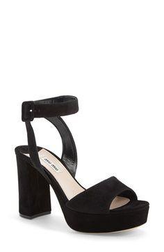 Miu Miu Block Heel Platform Sandal (Women) available at #Nordstrom