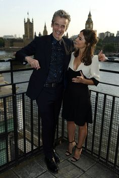 Jenna Coleman and Peter Capaldi