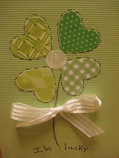 St Patrick's stamped card