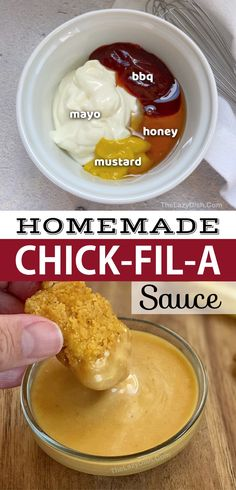 I Love Food, Good Food, Yummy Food, Tasty, Chick Fil A Sauce, Snacks Saludables, Food To Make, How To Make Homemade, Kitchen