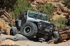 Off Road Jeep Rock crawling through a trail in Grand Mesa Colorado. http://mycoloradotravel.com