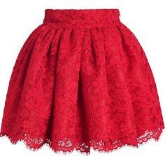 ideas dress skirt red for 2019 Red Skirts, Cute Skirts, Short Skirts, Skater Skirts, Rock Design, Skirt Outfits, Dress Skirt, Dress Red, Floral Print Skirt