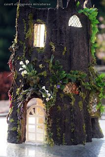 Great tutorial on link! Great idea for treehouse made from foam core, insulation and papier mache.