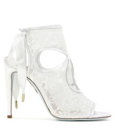 mytheresa.com - Sexy Thing lace and leather sandals - Luxury Fashion for Women / Designer clothing, shoes, bags
