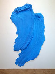 From Kathryn Markel Fine Arts, Donald Martiny, Pigeon Lake Polymer and dispersed pigment, 83 × 45 in Conceptual Painting, Abstract Paintings, Art Paintings, Abstract Art, Monochrome Painting, Art Criticism, Gallon Of Paint, Colour Field, Painting Process