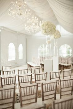 Bald Head Island white wedding ceremony, elaborate and beautiful to say the least | stylemepretty.com