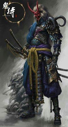 """the undefeated demon samurai"" Arte Ninja, Ninja Kunst, Ninja Art, Ronin Samurai, Samurai Warrior, Samurai Anime, Samurai Wallpaper, Samurai Artwork, Art Japonais"