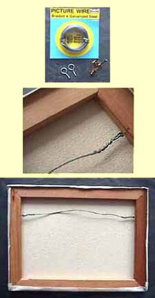 How To Install A Wire Into A Canvas For Hanging Art Diy Canvas