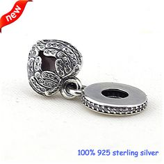 Fits European Bracelets Angel Wings Dangle Silver Charms With CZ New 100% 925 Sterling Silver Beads DIY Wholesale 11265