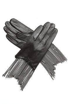 87 Suede evening gloves studded with rhinestones from theVintage Textile archives. Rock Chic, Rock Style, My Style, Glam Rock, Black Leather Gloves, Chunky Boots, Dark Fashion, Blue Cream, Glamour
