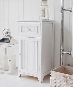 Ideas For White Bathroom Cabinet For Storage