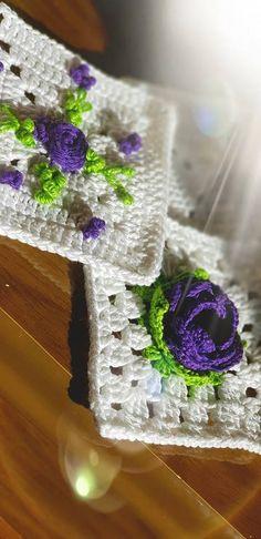 Diário Crochê Tricô: Crochê e Bordado Livre