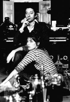 Serge Gainsbourg and Jane Birkin by Giancarlo Botti