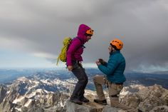 Everything was perfect—a mountain summit, dramatic clouds, the love of his life. But where was the ring?