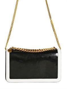 Stella McCartney Brushed Off Faux Leather Shoulder Bag