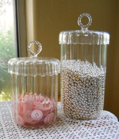 Elegant Apothecary Jars Candy Jars Wedding Candy by cyndalees, $33.00