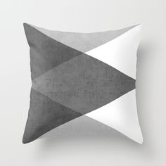 Buy black and white triangles by her art as a high quality Throw Pillow. Worldwide shipping available at Society6.com. Just one of millions of products available.