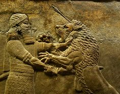 This is an Assyrian Bas Relief. The Assyrians were very good at depicting various images through these carvings. They are quite unique in my opinion. (Picture was found through google)