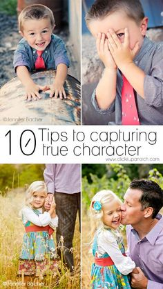 Here are 10 tips to capturing true character in your next photo shoot. Capture genuine memories