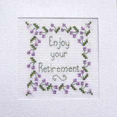 Retirement Card, Cross Stitch Kit with 100% cotton Adia No. A 001   eBay