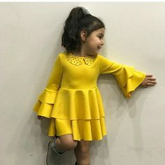 Kids Fashion For 10 Year Olds Baby Dress Design, Baby Girl Dress Patterns, African Dresses For Kids, Little Girl Dresses, Baby Girl Fashion, Kids Fashion, Mode Collage, Kids Gown, Kids Frocks Design