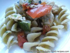 Baby's Chicken Ratatouille with Whole Wheat Pasta