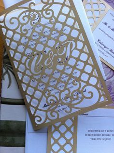 Wedding Invitation Laser Cut Gate pattern with by CelineDesigns