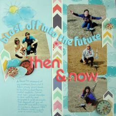 Ideas for Mixing Old and New Photographs on a Scrapbook Page | Michelle Houghton | Get It Scrapped
