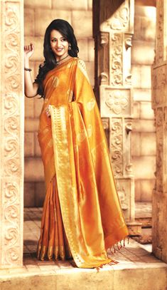 Arani silks, yellow