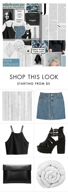 """""""☾ should i be scared"""" by glimpse-of-moondxst ❤ liked on Polyvore featuring Vanity Fair, Piet Hein Eek, Chanel, A.P.C., Kenzie, H&M, Brinkhaus, Fujifilm, magazine and moondxst"""