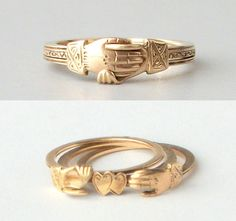 FEDE GIMMEL rings  have been used for centuries to symbolize the union of two people: in friendship, in marriage. They've been the weddin...