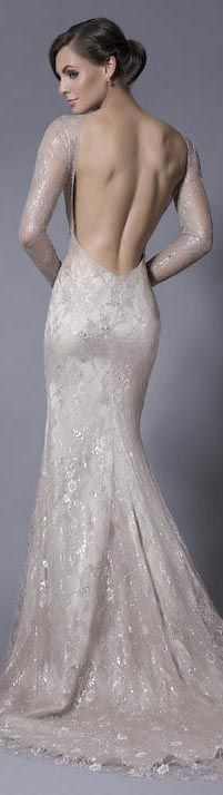 Sheath Wedding Dress : Picture Description Sexy Fitted Long Sleeve Backless Wedding Dress would also have to order this Wedding Robe, Backless Wedding, Wedding Gowns, Lace Wedding, Church Wedding, Mermaid Wedding, Mode Glamour, The Bride, Dress Vestidos