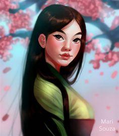 Mulan + Speedpaint by cosmogirll.deviantart.com on @DeviantArt