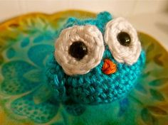 Crochet owl ornaments :)