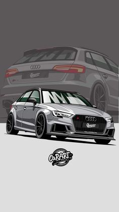 - Cars World Audi A3 Sportback, Audi Rs3, My Dream Car, Dream Cars, Best Luxury Cars, Tuner Cars, Car Illustration, Automotive Art, Top Cars