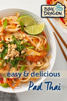 Try new Blue Dragon Pad Thai - authentic and delicious with no artificial flavours or colours! Healthy Foods To Make, Food To Make, Vegetarian Recipes, Cooking Recipes, Healthy Recipes, Food Dishes, Main Dishes, One Dish Dinners, Asian Cooking