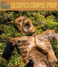 DIY Decayed Corpse Prop | Here's a unique Halloween decor you can make this season. #DIYReady DIYReady.com