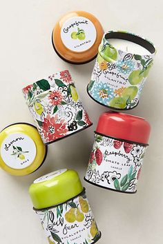 More fresh scents for your kitchen from Anthropologie - love the splash of color on the labels