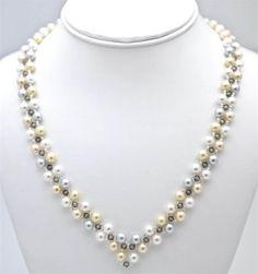 V Shape Necklace | Beads Bagan