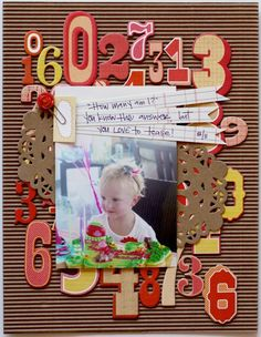 Awesome way to use up those chipboard leftover numbers!