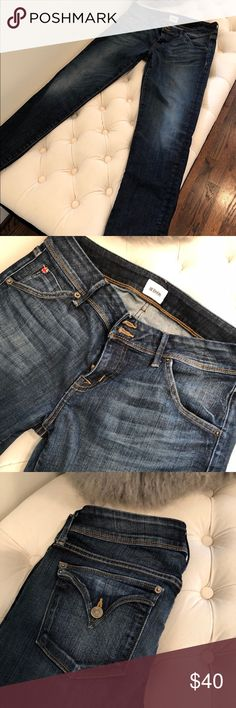"""Hudson skinny jeans Hudson jeans Size 30  Nicole ankle skinny Color runa shade B Style #wa492dif Inseam 27"""" Hudson Jeans Jeans Skinny"""