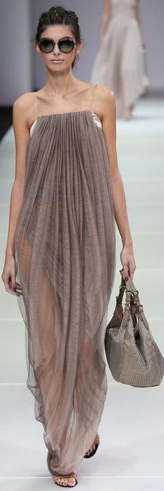 Giorgio Armani RTW Spring 2015 (i love how different this dress is)