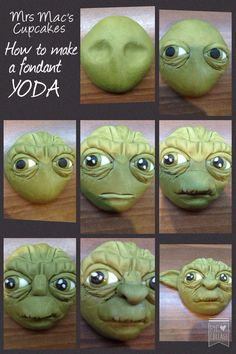 How to make a fondant Yoda from Star Wars tutorial