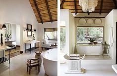 Yvonne O'Brien Interior Design Londolozi Tree camp Beach House Bathroom, Simple Bathroom, Bathroom Ideas, George House, Tree Camping, Cottage Interiors, Bathroom Interior Design, Beautiful Space, Rustic Chic