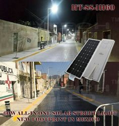 Hitechled 60W all in one solar street light footprint again in Mexico